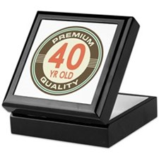 40th Birthday Vintage Keepsake Box
