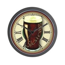 Funny Irish Stout Wall Clock