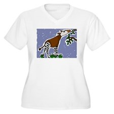 Artistic Okapi Design Plus Size T-Shirt