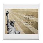 Thomas Paine Quote Tile Coaster