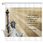 Thomas Paine Quote Shower Curtain