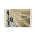 Thomas Paine Quote Rectangle Magnet (100 pack)