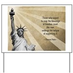 Thomas Paine Quote Yard Sign