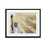 Thomas Paine Quote Framed Panel Print