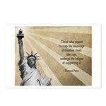 Thomas Paine Quote Postcards (Package of 8)