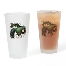 """ds"" the zombie betta fish Drinking Glass"