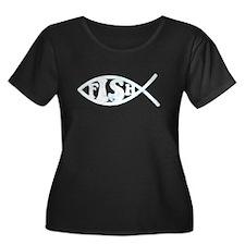 Jesus Fish Spoof T
