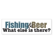 Fishing & Beer Bumper Bumper Sticker