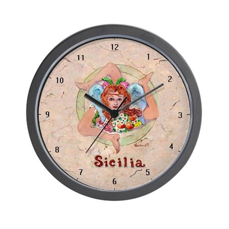 THe Trinacria Wall Clock
