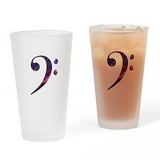 Bass clef nebula 1 Drinking Glass