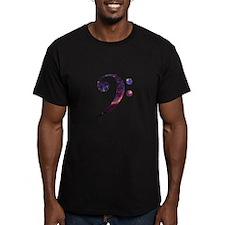 Bass clef nebula 1 T-Shirt
