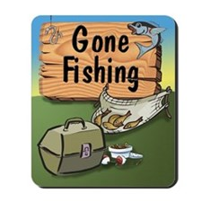 Gone Fishing Design Mousepad