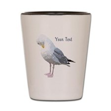 Gull and Text. Shot Glass
