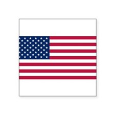 "American Flag Square Sticker 3"" x 3"""