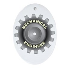Mechanical Engineer Oval Ornament