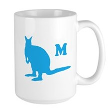 Custom Letter. Blue Wallaby. Mug