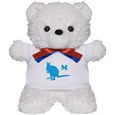 Custom Letter. Blue Wallaby. Teddy Bear