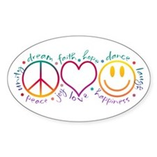 Peace Love Laugh Decal