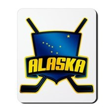 Alaska Hockey Flag Logo Mousepad
