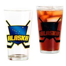 Alaska Hockey Flag Logo Drinking Glass