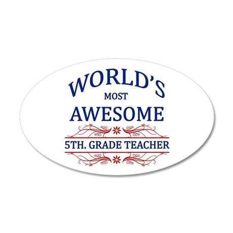 World's Most Awesome 5th. Grade Teacher 20x12 Oval