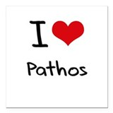 "I Love Pathos Square Car Magnet 3"" x 3"""