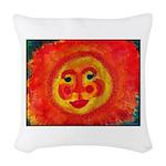 Sun Face Woven Throw Pillow