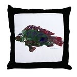 Bright Fish Print Throw Pillow