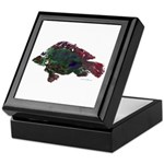 Bright Fish Print Keepsake Box