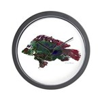 Bright Fish Print Wall Clock