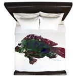 Bright Fish Print King Duvet