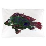 Bright Fish Print Pillow Case
