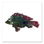Bright Fish Print Square Car Magnet 3