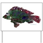 Bright Fish Print Yard Sign