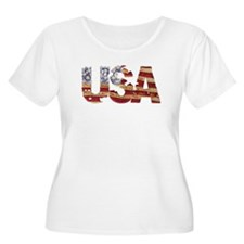 Worn USA Plus Size T-Shirt