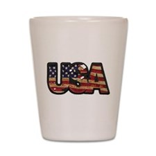 USA Patch Shot Glass