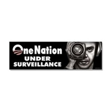 One Nation Under Surveillance Car Magnet 10 x 3