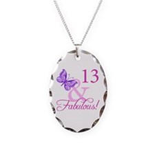 Fabulous 13th Birthday Necklace Oval Charm