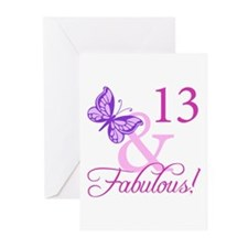 Fabulous 13th Birthday Greeting Cards (Pk of 20)