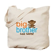 Personalized Monkey Big Brother Tote Bag