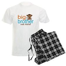 Personalized Monkey Big Brother Pajamas