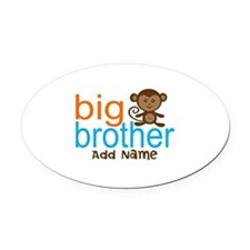 Personalized Monkey Big Brother Oval Car Magnet