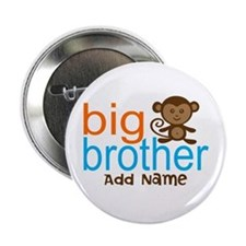 """Personalized Monkey Big Brother 2.25"""" Button"""