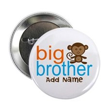 """Personalized Monkey Big Brother 2.25"""" Button (10 p"""