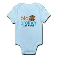 Personalized Monkey Big Brother Infant Bodysuit