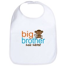 Personalized Monkey Big Brother Bib