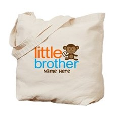Personalized Monkey Little Brother Tote Bag