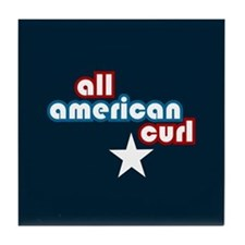 All American Curl Tile Coaster
