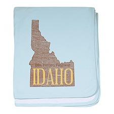 Vintage Idaho Potato baby blanket