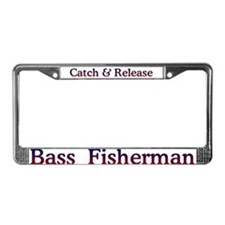 Bass Fishing License Plate Frame